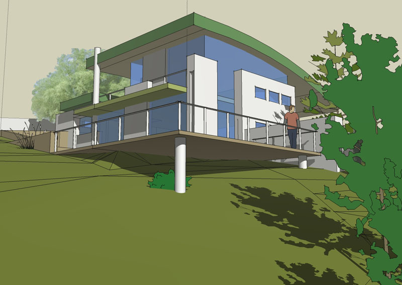 Biohabitat ecoconstruction la maison bioclimatique for Sketchup plan maison